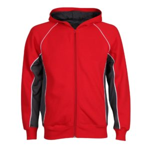 Sports Hoodie with Piping and Panels