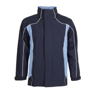 waterproof jacket for sports with panels front view