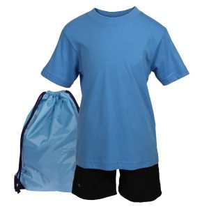 Blue PE School Kit and Bag