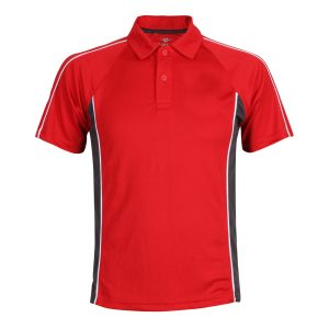 Red School Polo Top Front View