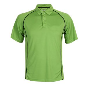 School Sports Polo with Piping Front View