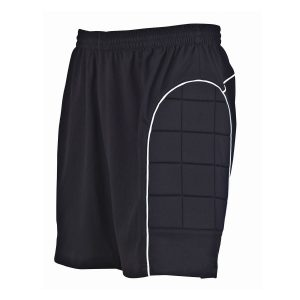 Black Padded School Football Shorts Side View