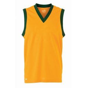 Orange School Sports Athletics Vest Front View