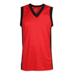 Red School Sports Athletics Vest Front View
