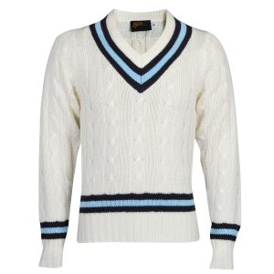 Long Sleeve School Cricket Sweater Front View