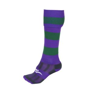School Sports Purple and Green PE Sock