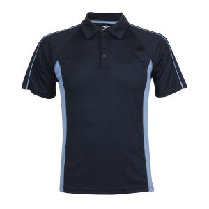 Navy School Sports Polo Shirt Front View