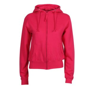 front view full zip school dance hoodie plain colour