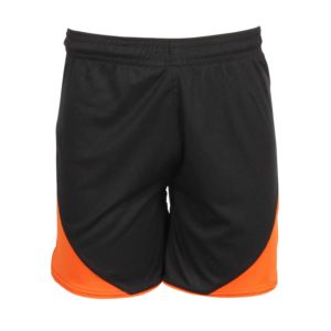 football shorts front view with stripe