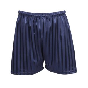 front view shadow stripe sports shorts