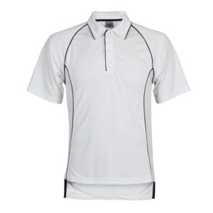 front view school cricket top with piping