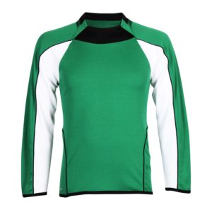 long sleeve football shirt for schools with piping and panels
